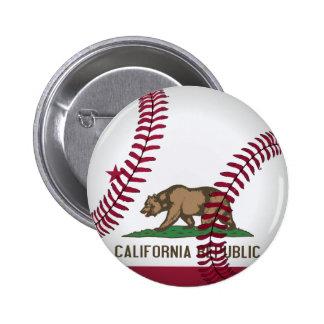 Béisbol de la república de California Pin Redondo De 2 Pulgadas