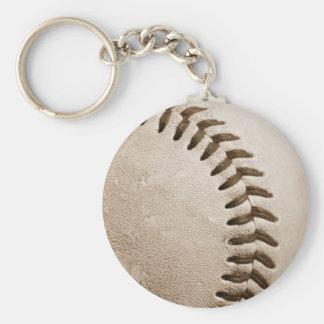 Béisbol de la sepia llavero redondo tipo pin