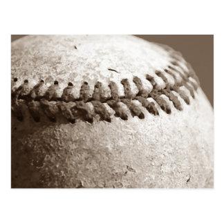 Béisbol de la sepia tarjetas postales