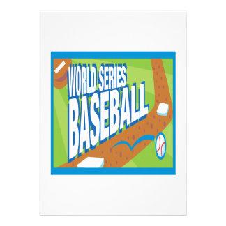 Béisbol de la serie de mundo anuncio