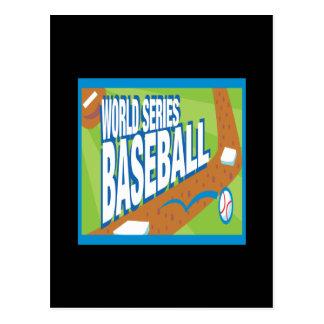 Béisbol de la serie de mundo postales