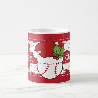 Béisbol de las Felices Navidad Taza De Café