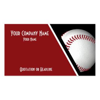 Béisbol de las tarjetas de visita
