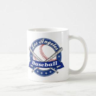 Béisbol de Los Ángeles Taza Básica Blanca