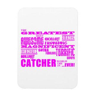 Béisbol de los chicas Colector más grande rosado Imán