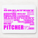 Béisbol de los chicas: Jarra más grande rosada Alfombrilla De Ratones