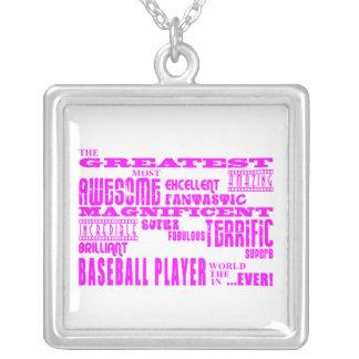 Béisbol de los chicas Jugador de béisbol más gran Joyería