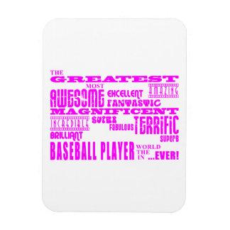 Béisbol de los chicas Jugador de béisbol más gran Iman Rectangular