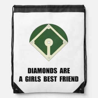 Béisbol de los diamantes mochila