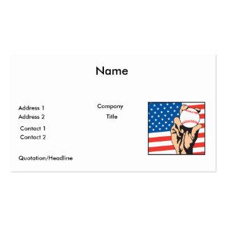 béisbol de los E.E.U.U. de la bandera americana Tarjetas De Visita
