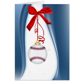 Béisbol de los saludos de la estación tarjeta