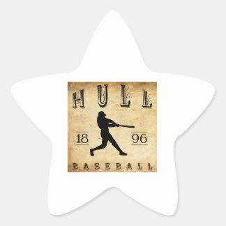 Béisbol de Massachusetts de 1896 cascos Pegatina En Forma De Estrella