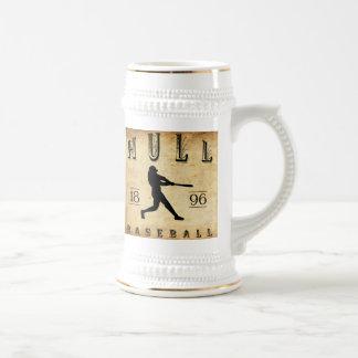 Béisbol de Massachusetts de 1896 cascos Jarra De Cerveza