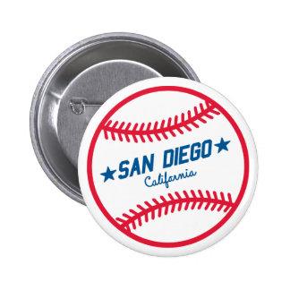 Béisbol de San Diego Pin Redondo 5 Cm