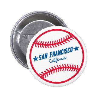 Béisbol de San Francisco Pin Redondo 5 Cm