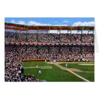 Béisbol de St. Louis Missouri en el parque del dep Tarjetón