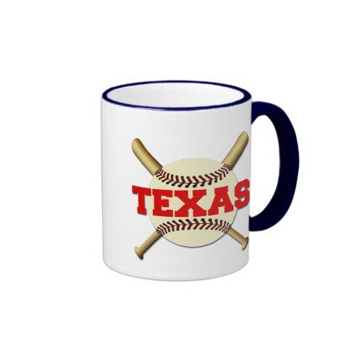 Béisbol de Tejas Taza De Dos Colores