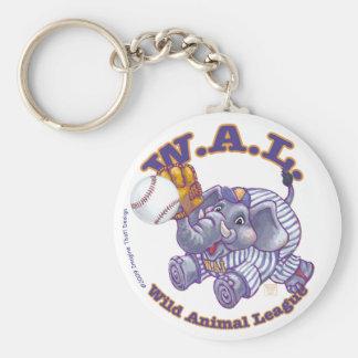 Béisbol de WAL Llavero Redondo Tipo Pin