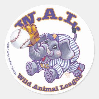 Béisbol de WAL Pegatina Redonda