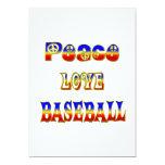Béisbol del amor de la paz comunicados personales