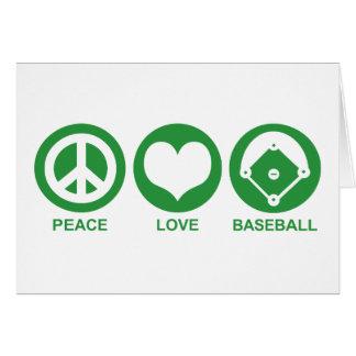 Béisbol del amor de la paz tarjetas