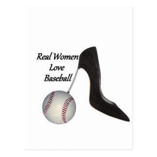 Béisbol del amor de las mujeres reales postal