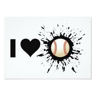 """Béisbol del amor del explosivo I Invitación 5"""" X 7"""""""