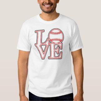 Béisbol del amor poleras