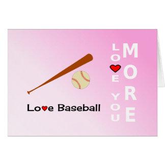 Béisbol del amor romántico o deportes del día de tarjeta de felicitación