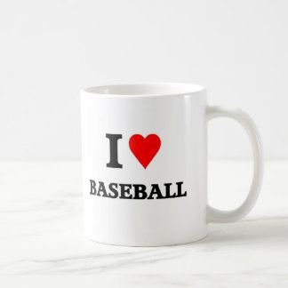 Béisbol del amor taza clásica