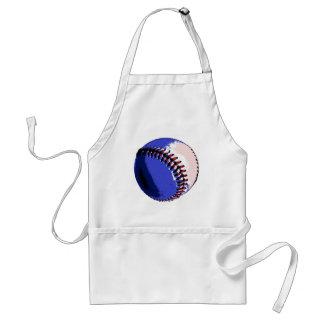 Béisbol del arte pop delantal