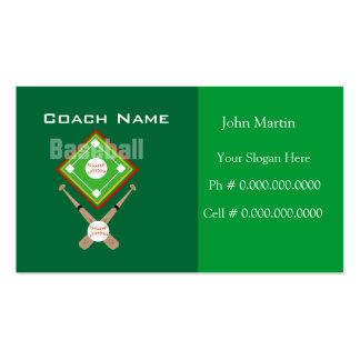 Béisbol del coche tarjetas de visita
