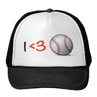 Béisbol del corazón I y del amor Gorras