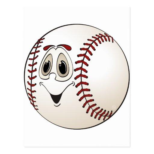 Béisbol del dibujo animado postal