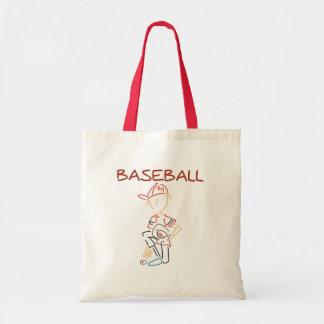 Béisbol del dibujo lineal bolsa tela barata