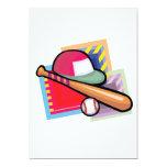 Béisbol del equipo invitación 12,7 x 17,8 cm