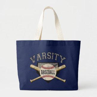 Béisbol del equipo universitario bolsa tela grande