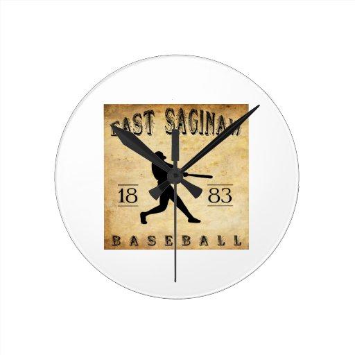 Béisbol del este de 1883 Saginaw Michigan Reloj De Pared