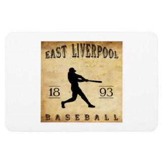 Béisbol del este de 1893 Liverpool Ohio Imán Rectangular