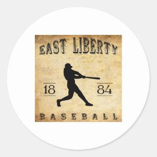 Béisbol del este de Ohio de la libertad 1884 Pegatina Redonda