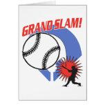 Béisbol del Grand Slam Tarjeta De Felicitación