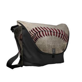 Béisbol del Grunge del vintage Bolsa De Mensajeria
