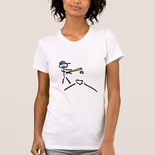Béisbol del hombre del palillo camiseta