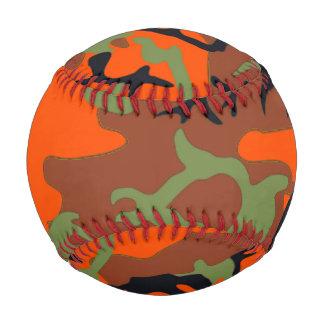Béisbol del modelo del camuflaje del naranja y del
