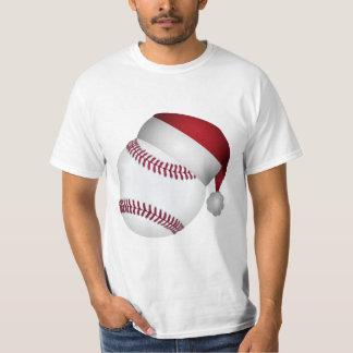 Béisbol del navidad playera