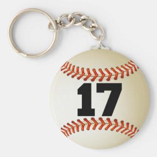 Béisbol del número 17 llavero redondo tipo pin