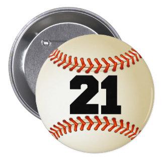 Béisbol del número 21 pin