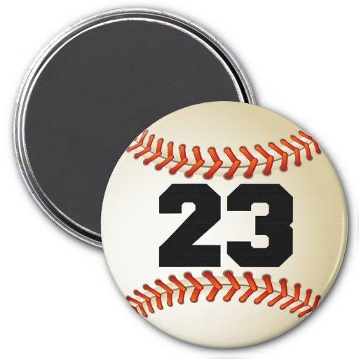 Béisbol del número 23 imán para frigorífico