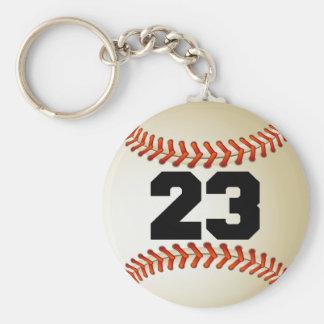 Béisbol del número 23 llaveros