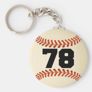 Béisbol del número 78 llaveros